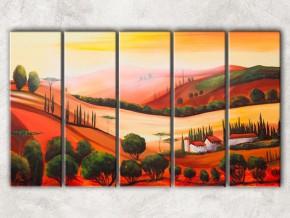 красные холмы с фоном