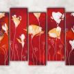 стилизованные цветы с фоном
