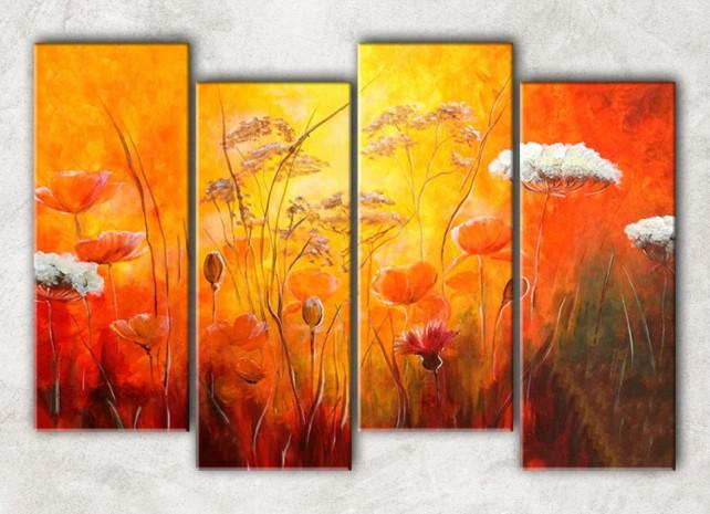 тёплые цветы с фоном