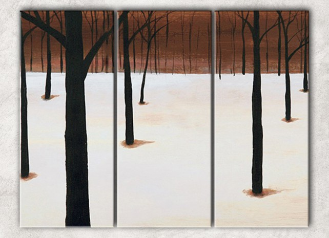 зимний лес с фоном