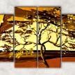 золотое дерево с фоном