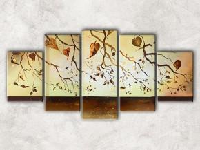 золотые листья с фоном