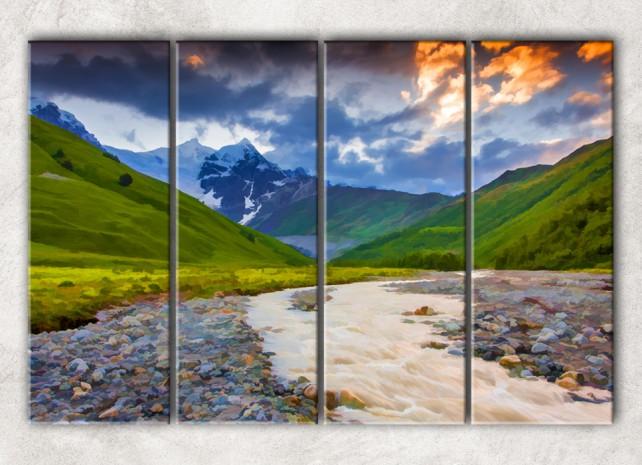 горный пейзаж сф