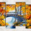 мост в парке сф