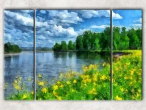 на озере летом сф