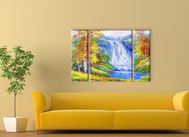 осенний водопад 3
