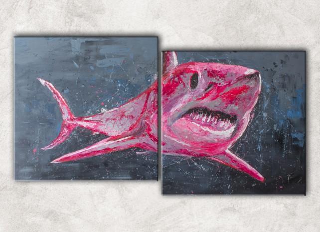 розовая акула сф
