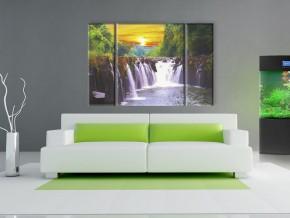 водопад в закате 1