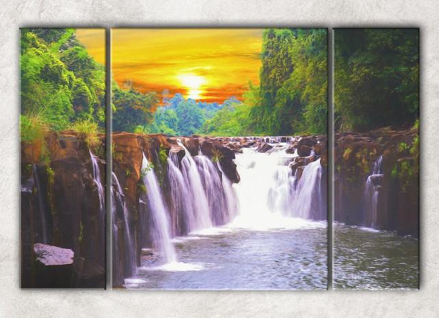водопад в закате сф