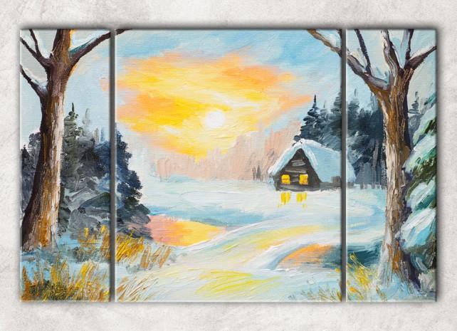 зимняя деревня сф