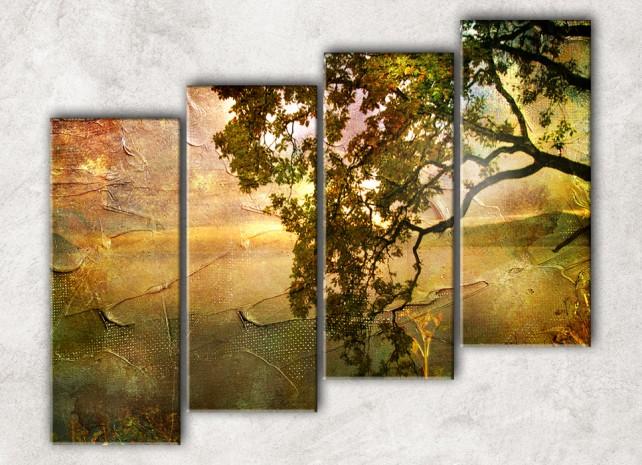 Дерево в закате сф