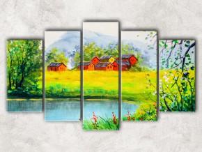 Дома на берегу озера сф