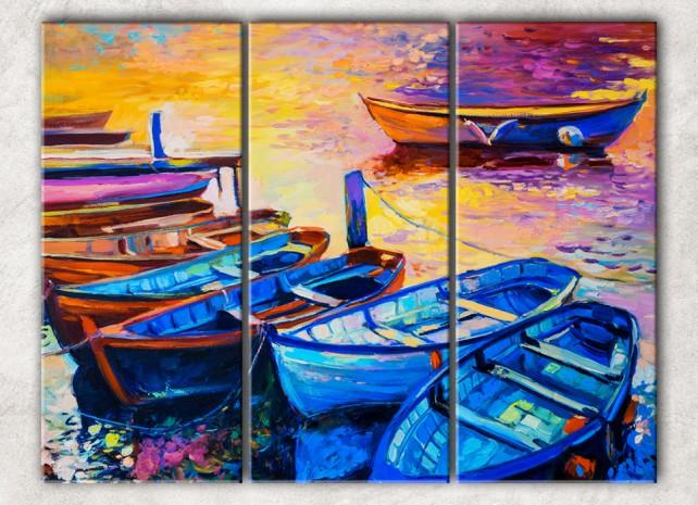 Лодки в воде сф