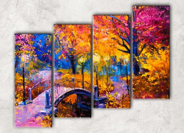 Мост с фонарями сф