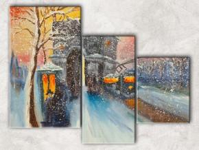 Триумфальная арка зимой сф