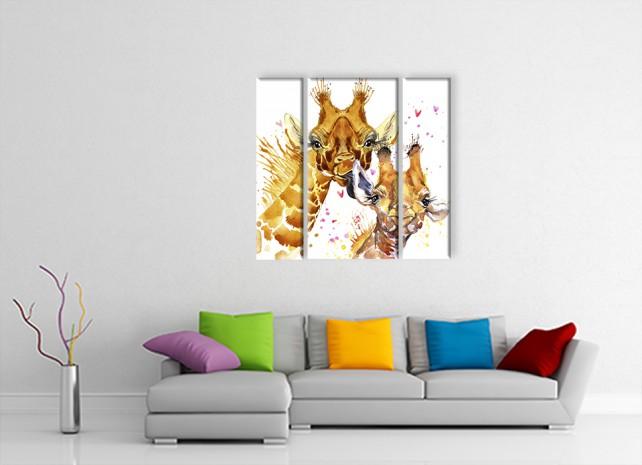 Жираф с детёнышем 2