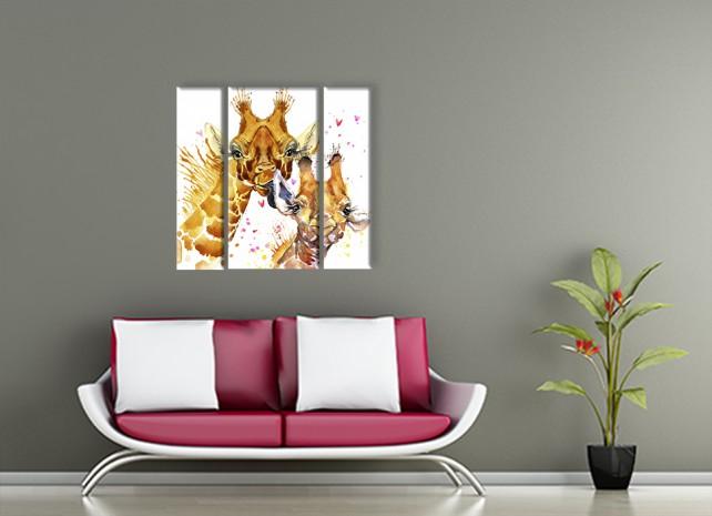 Жираф с детёнышем 3