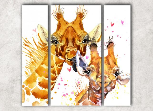Жираф с детёнышем сф