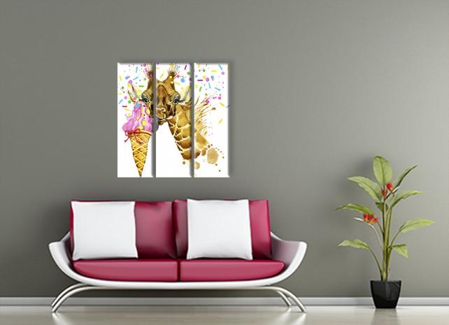 Жираф с мороженым 3