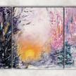 Зимний рассвет на ручье сф