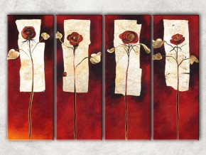 четыре розы с фоном