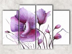 фиолетовый мак с фоном