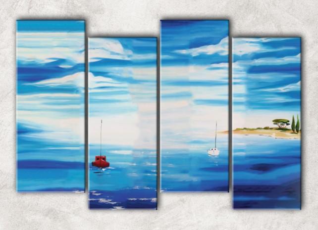 голубое море с фоном