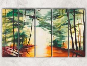 лес на берегу реки с фоном