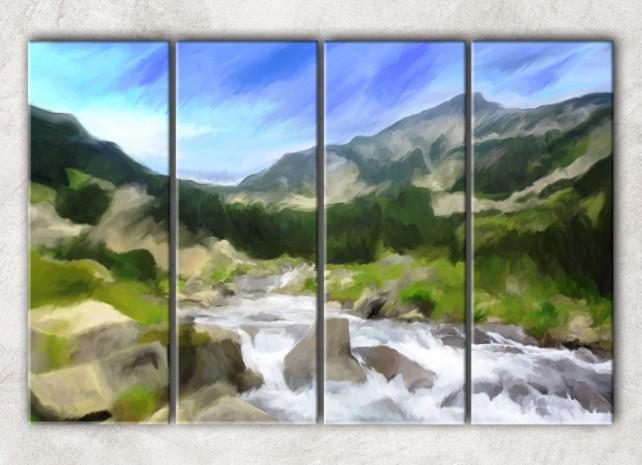 река в горах сф