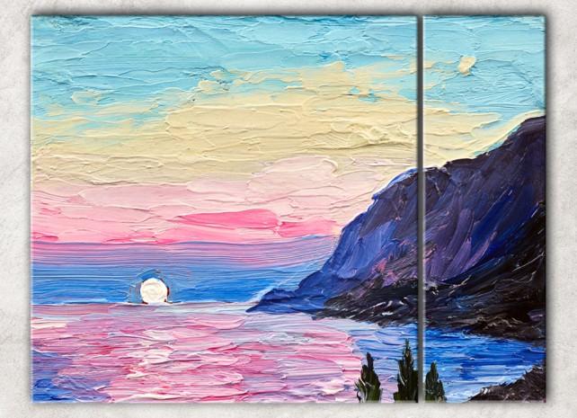 розовый закат сф