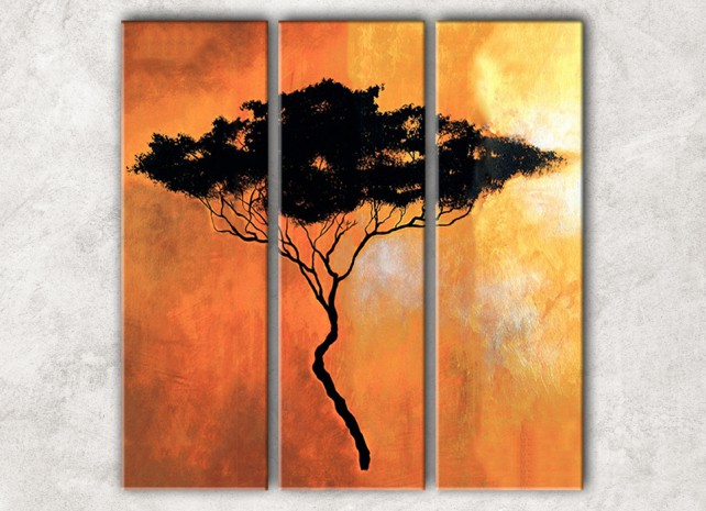 силуэт дерева с фоном