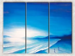 синее побережье с фоном