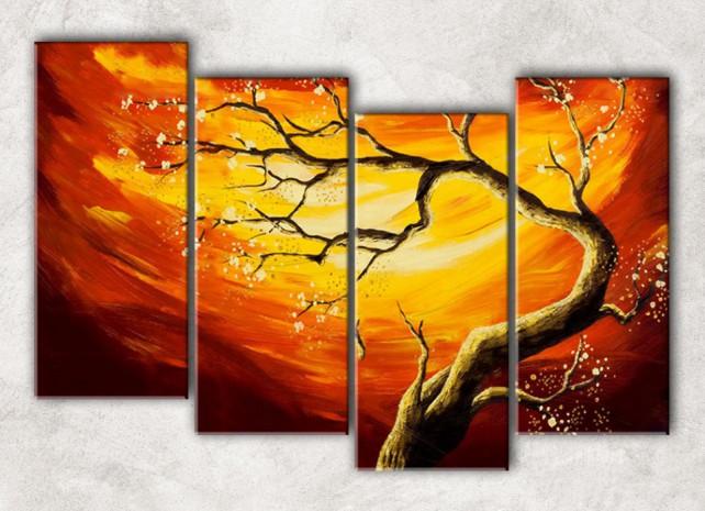 солнечное дерево с фоном