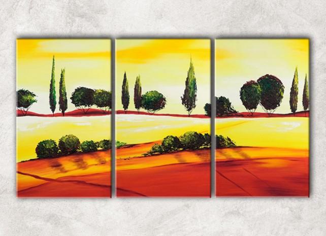 солнечные холмы с фоном