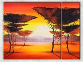 торжественный закат с фоном