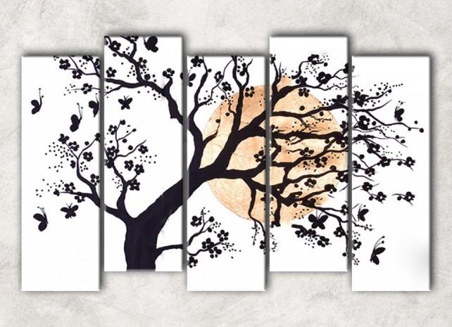цветущее дерево с фоном