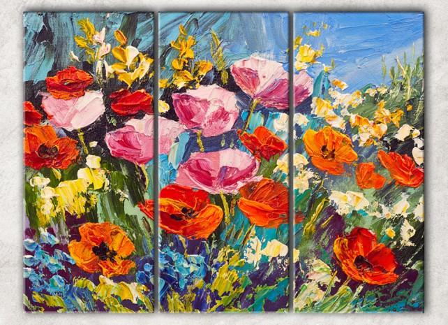 яркие цветы сф