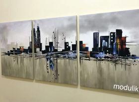 """модульная картина """"Мегаполис"""""""