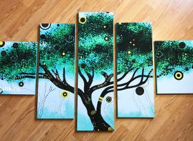 """Модульная картина """"Сказочное дерево"""""""